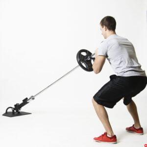 landmine-squat